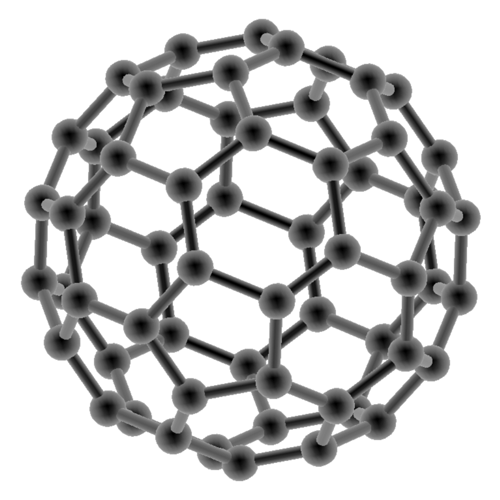 lattice structure of a buckminsterfulleren