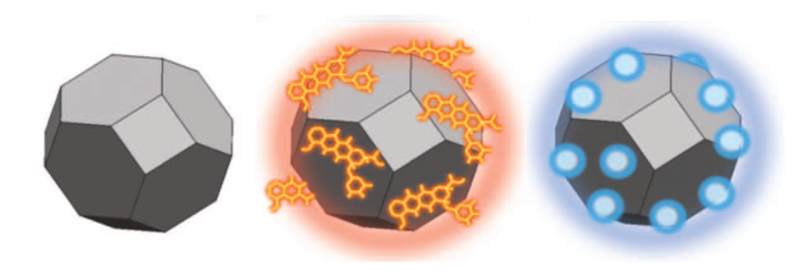 Diamond particles without and surface modifications. © Chow et al., 2011.
