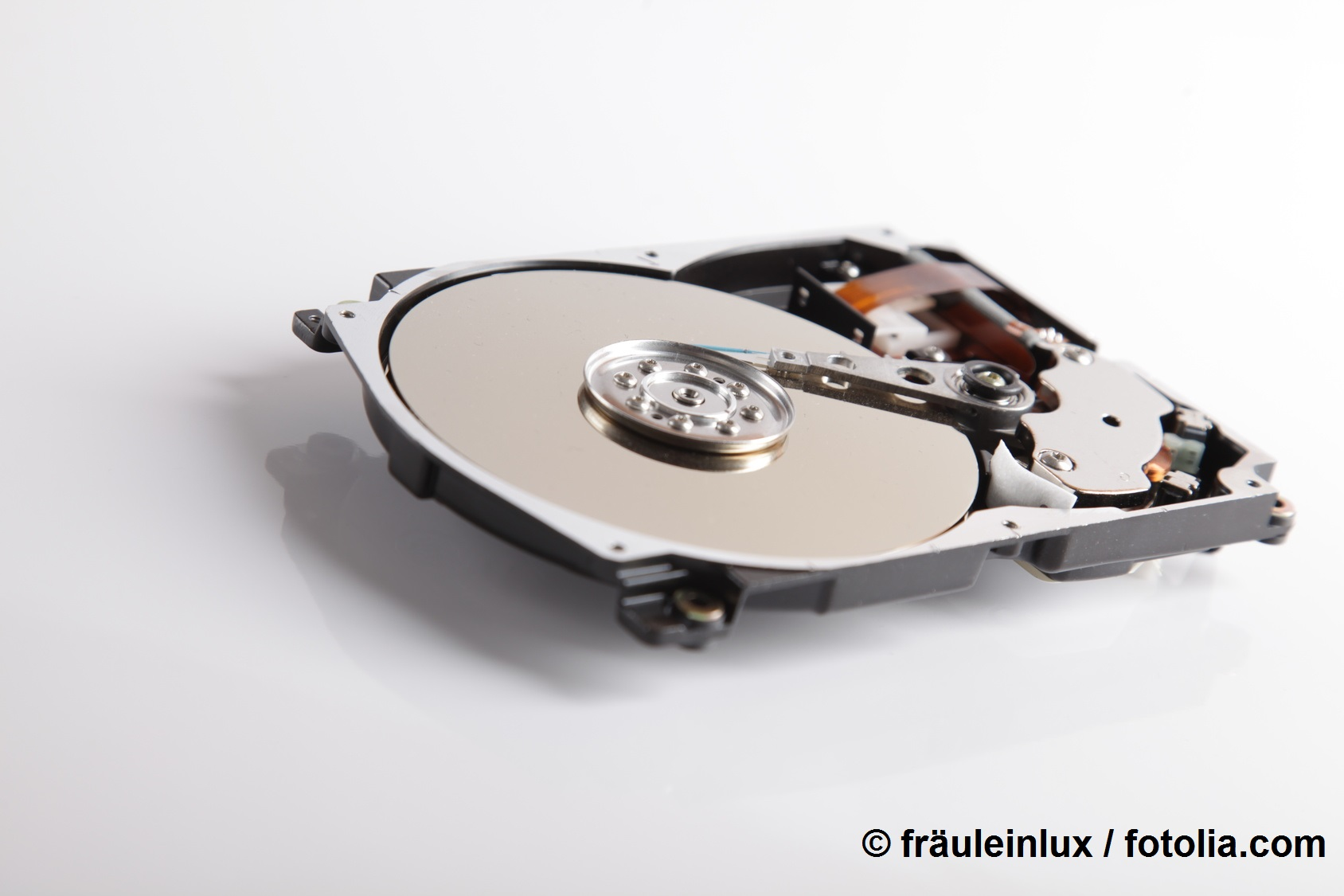 Hard disk drive with open housing © fraeuleinlux / fotolia.com