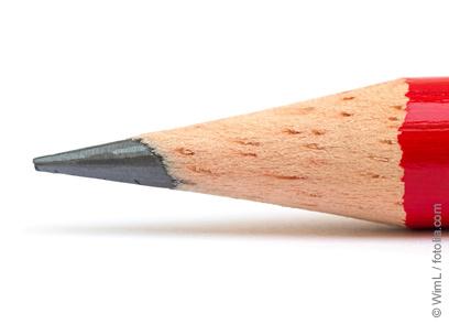 Bleistiftspitze: Graphit ist verantwortlich für die graue Farbe von Bleistiftminen © WimL / fotolia.com