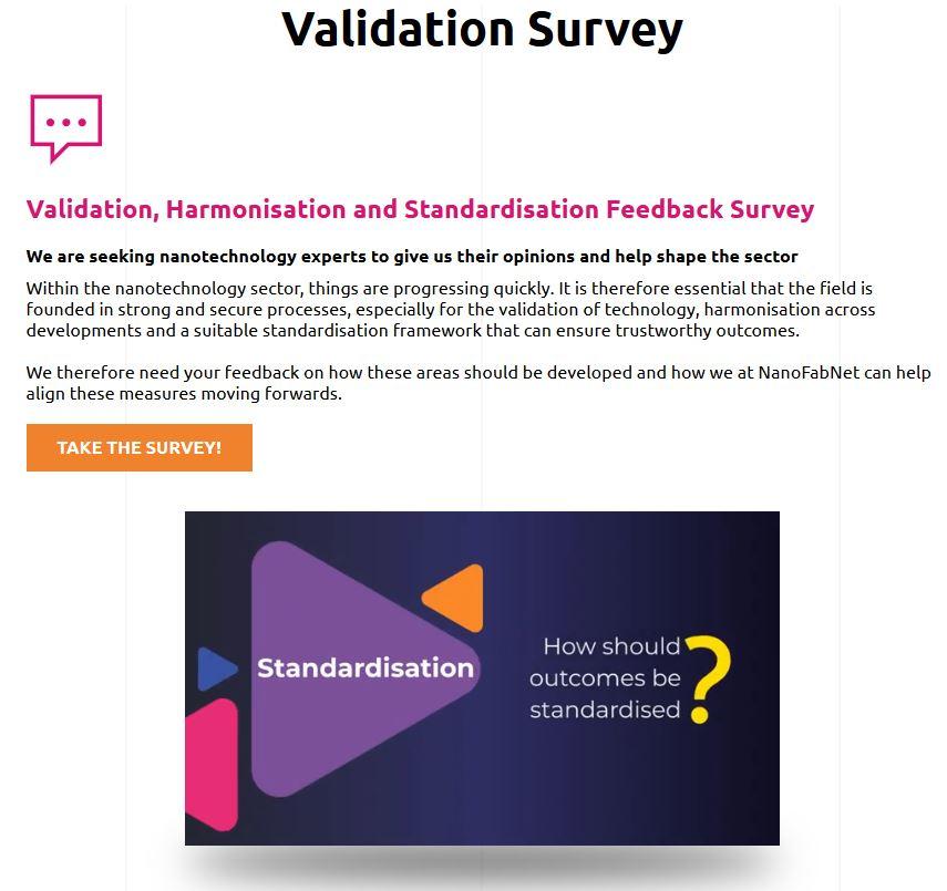 NanoFabNet Validation Survey News Meldung