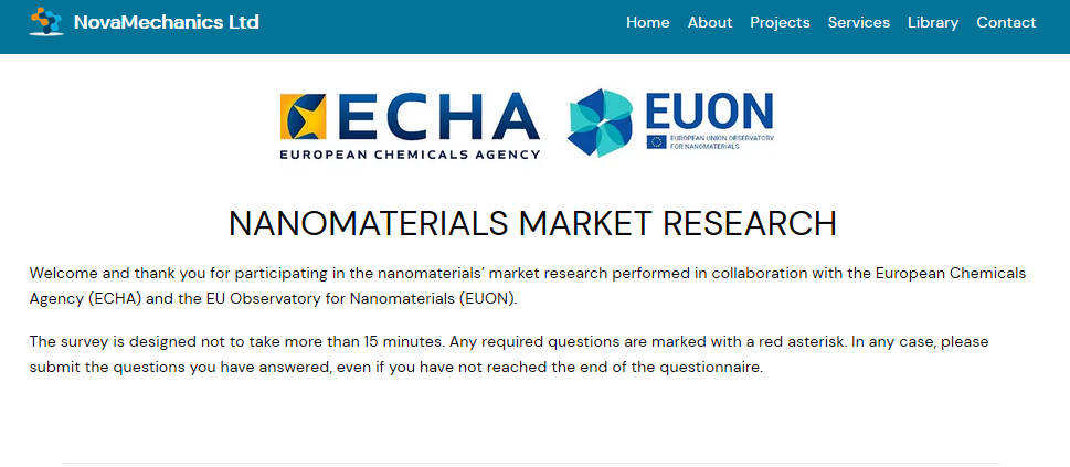 EUON Survey Nanomaterials on the EU Market